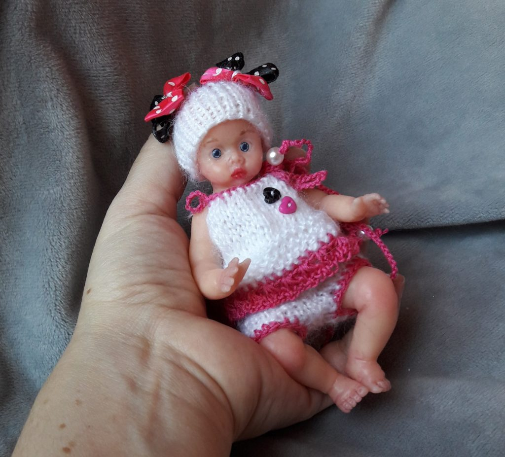 Mini silicone baby doll full body