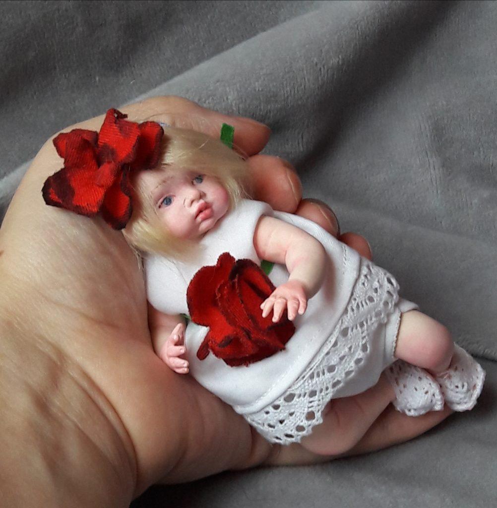 art mini baby doll red hair