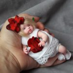 art mini baby doll red hair