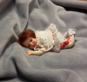 OOAK miniature baby doll