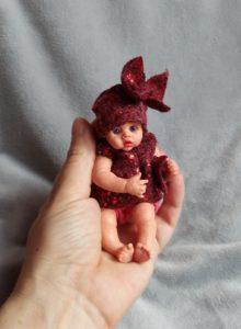 Mini reborn silicone baby