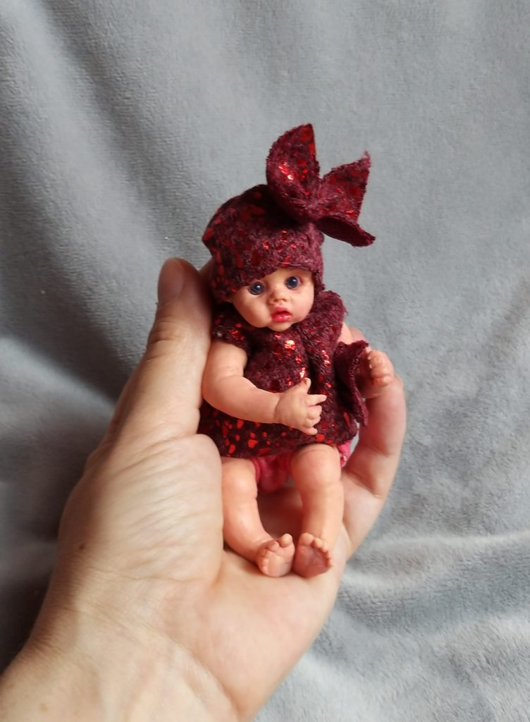 Mini reborn silicone  baby doll   by Kovaleva 88