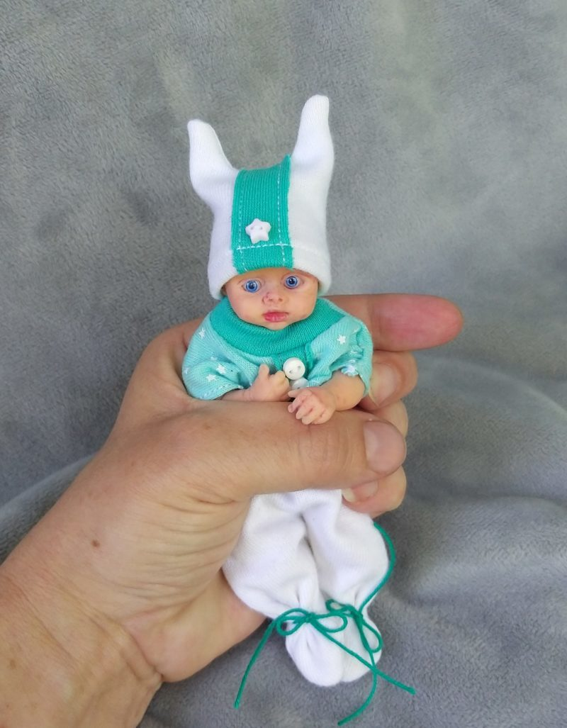 Mini silicone reborn baby boy full body mini Robin 5 inch