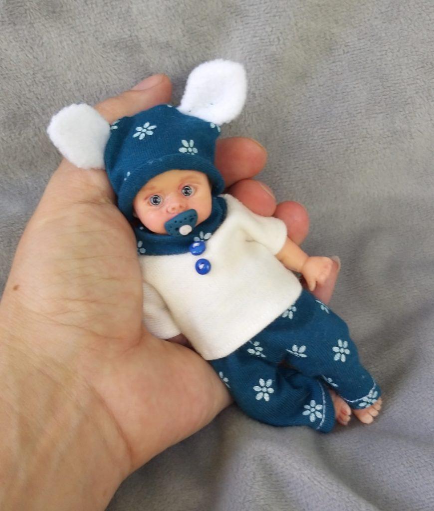 Silicone reborn baby boy full body mini Oleg 5 inch