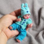 micro reborn silicone babies cloth body by Kovalevadoll
