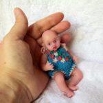 mini reborn silicone doll