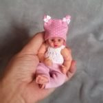 miniature reborn silicone baby doll cloth body Kovalevadoll