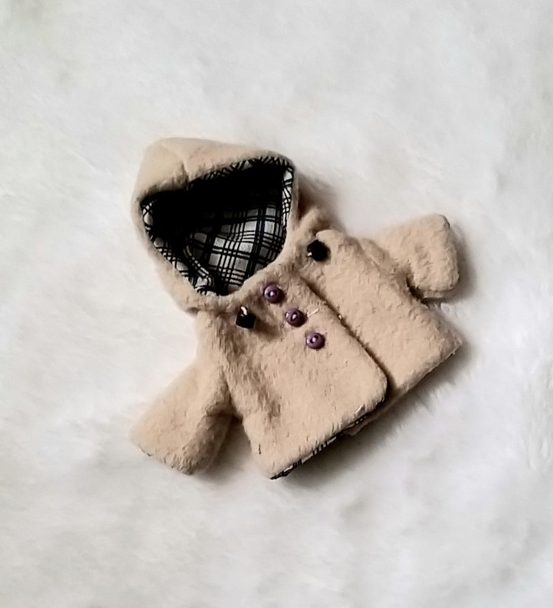 4 inch doll coat for mini silicone baby doll