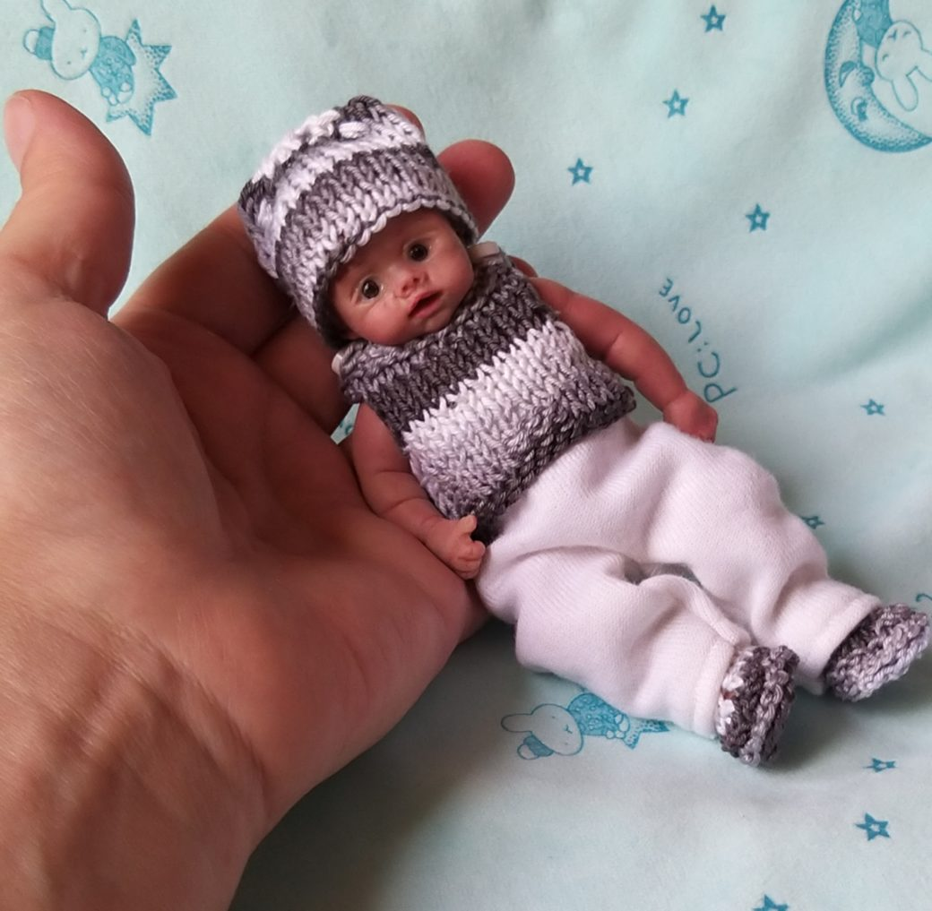 Mini silicone baby boy full body Jonny 4.7