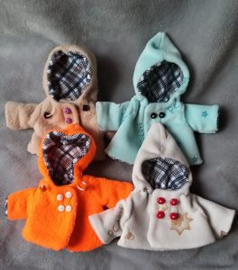 clothes for mini silicone baby , ooak BABY 4 INCH DOLL 5 inch doll