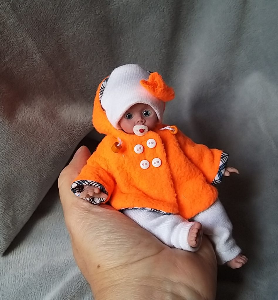 full silicone reborn mini doll OOAK for sale
