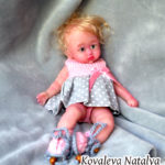 Full body mini silicone baby doll Asel 9 inch