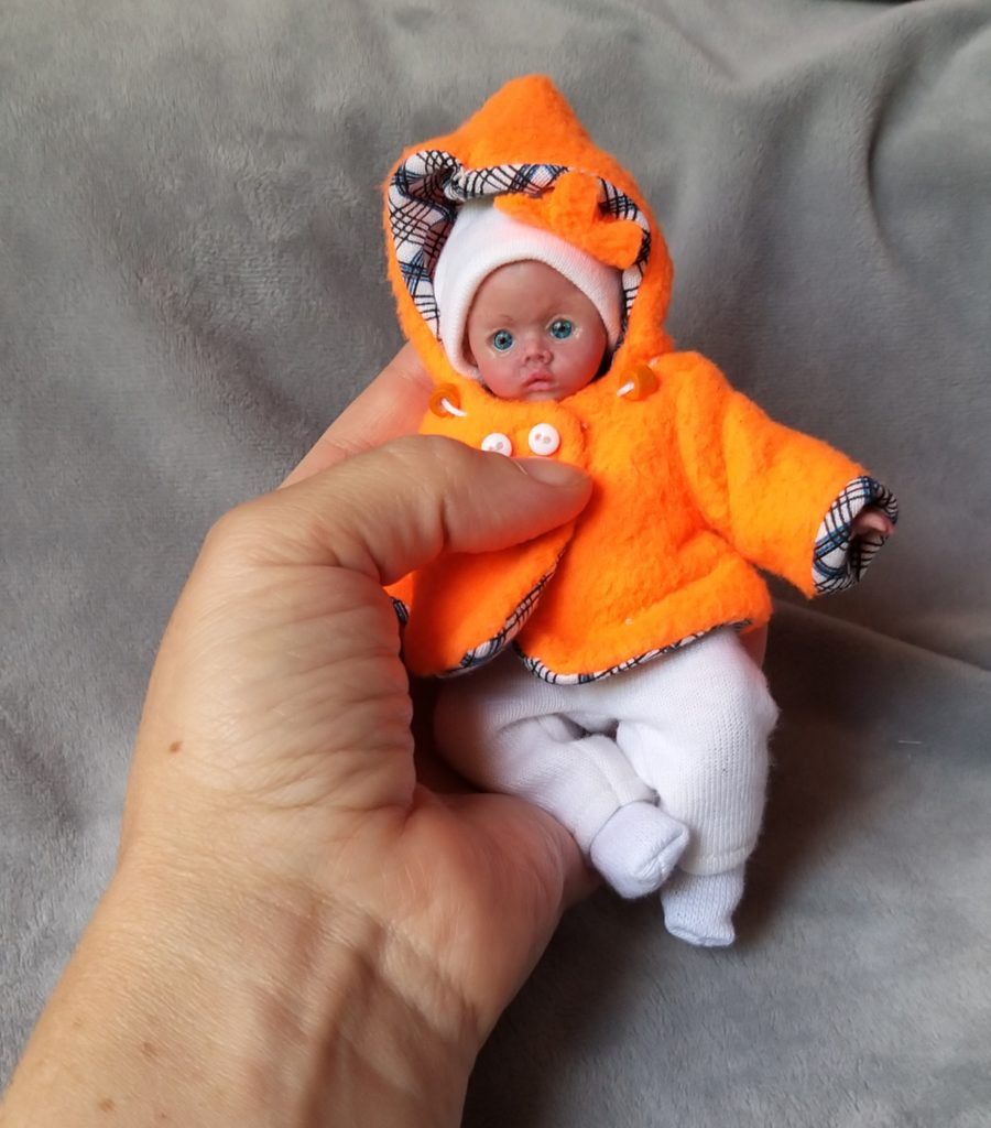 full silicone reborn mini doll OOAK for sale