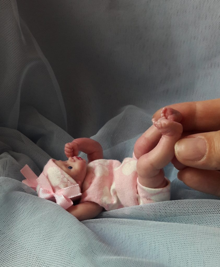 miniature silicone reborn baby posable