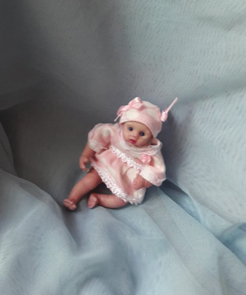 miniature silicone reborn baby