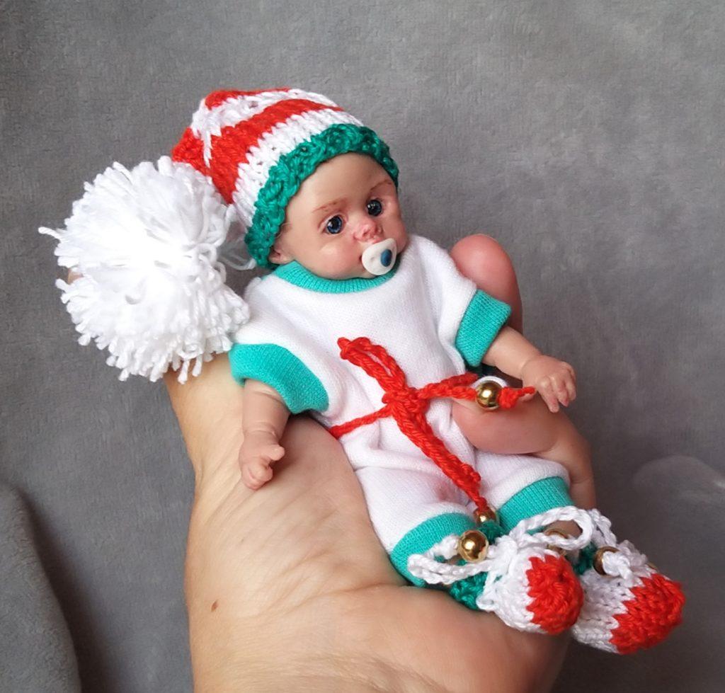 Full silicone reborn baby doll 5 inch kovaleva Natalya