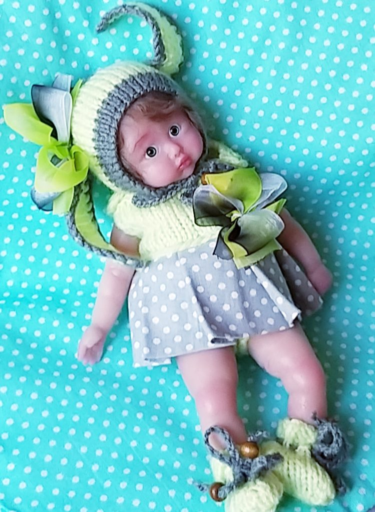 mini full silicone baby doll by Kovalevadoll
