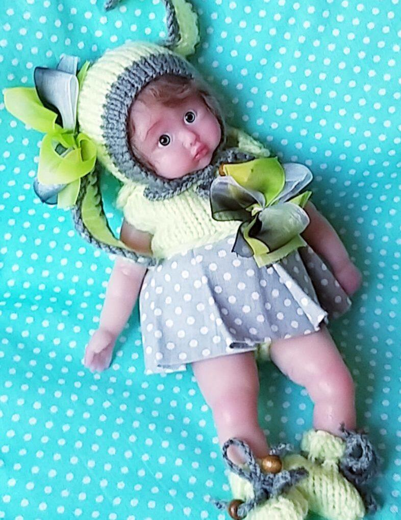mini full silicone baby doll by Kovalevadoll