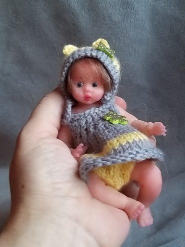 Silicone mini baby doll Alisa