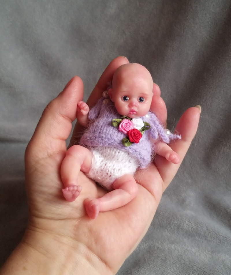 sold! mini full body silicone baby doll for sale ! kovalevadoll 09