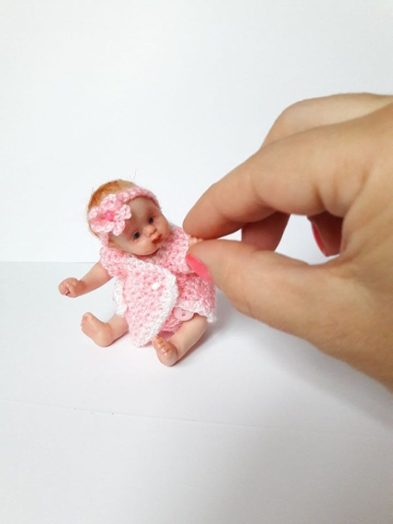 small polymer clay baby doll by Kovalevadoll