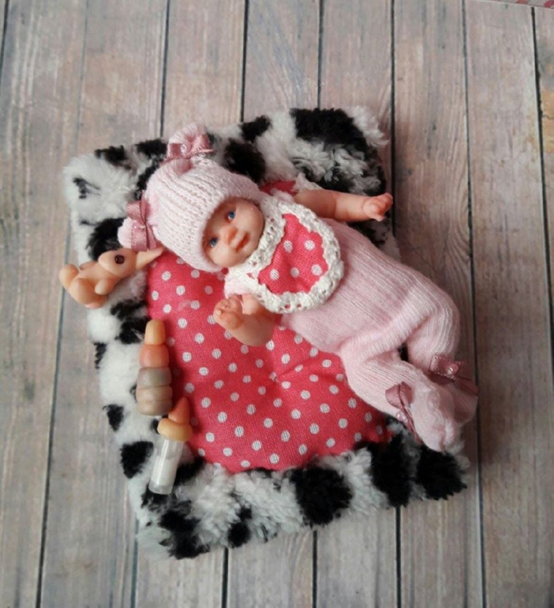 OOAK polymer clay baby doll by Kovalevadoll
