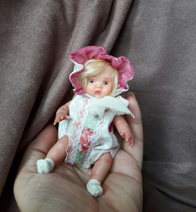 author's Mini polymer clay baby doll by Kovalevadoll