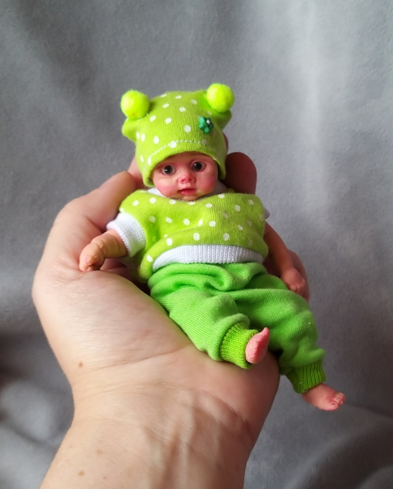 Tiny Silicone Baby,Mini Silicone Baby Doll,Rebirth doll,Tiny Silicone Baby doll