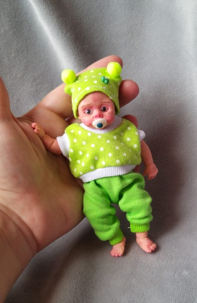 Mini silicone baby dolls 5 inch24