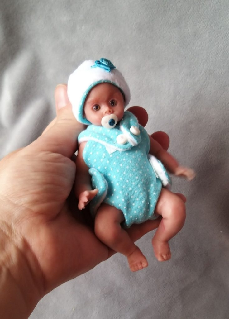Miniature silicone baby dolls for sale