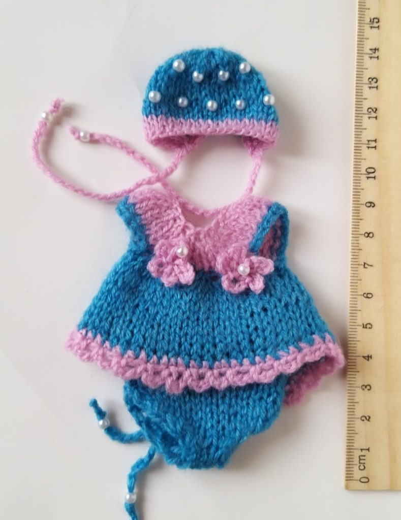hand knitted mini doll clothes Kovalevadoll 07