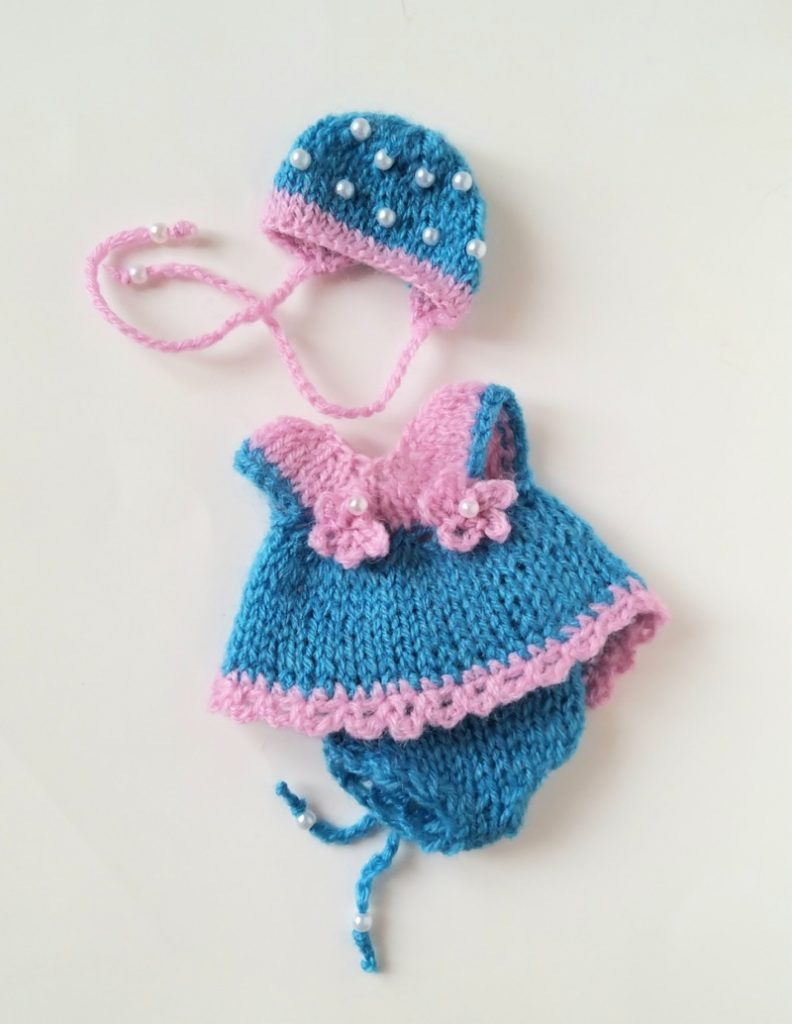 hand knitted mini doll clothes Kovalevadoll 08
