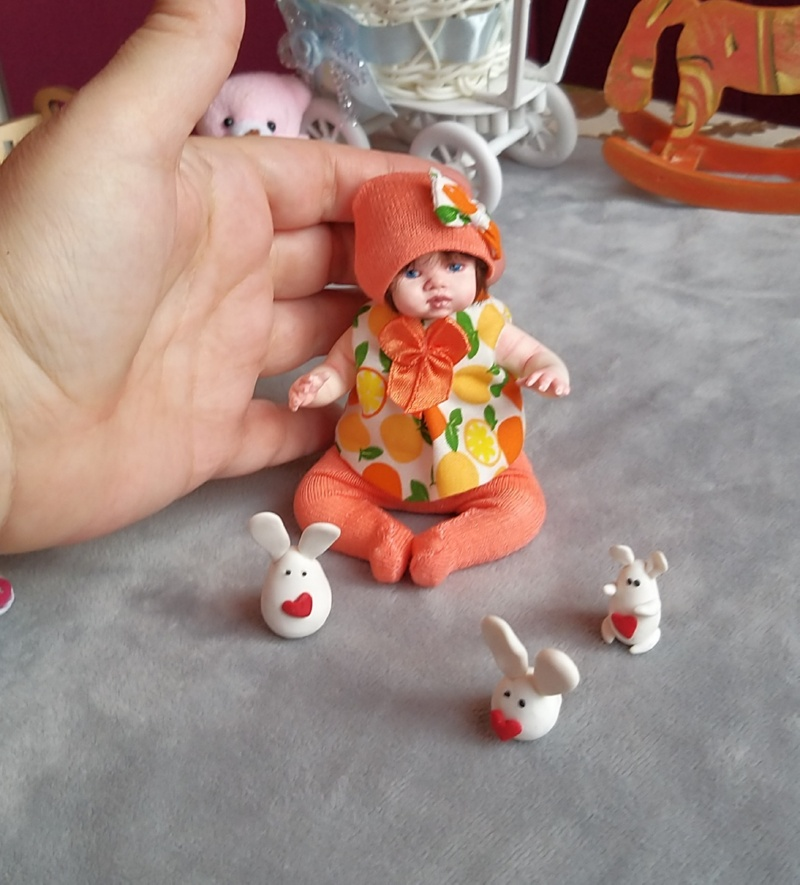 Polymer clay dolls miniature by Kovalevadoll 13