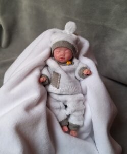 Silicone mini baby boy sleeping doll 5 inch