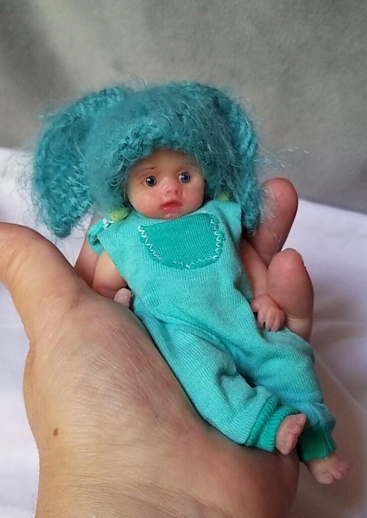 miniature full silicone body baby dolls