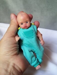 mini silicone baby doll full body