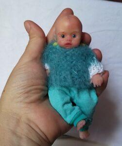 miniature reborn silicone baby doll