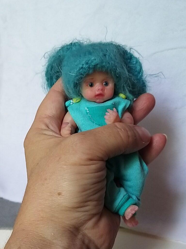 mini silicone reborn baby