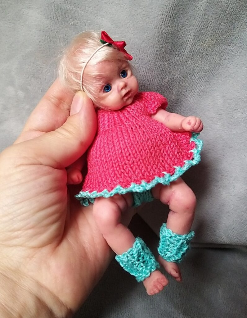 l Mini silicone baby girl Katy 6 inch dark eyes open open mouth with pacifier bottle babies doll mini reborn doll01
