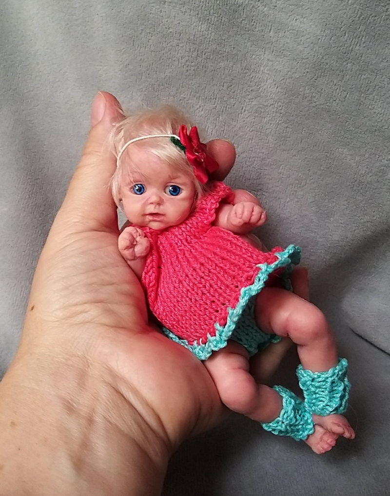 Silicone tiny baby girl 6 inch