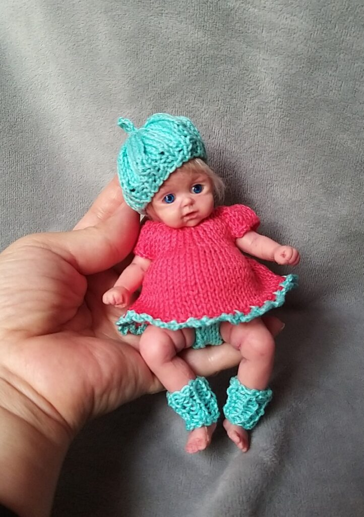 l Mini silicone baby girl Katy 6 inch dark eyes open open mouth with pacifier bottle babies doll mini reborn doll13