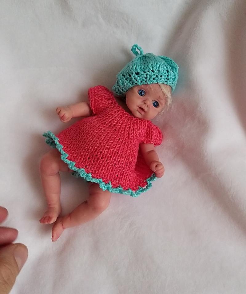 l Mini silicone baby girl Katy 6 inch dark eyes open open mouth with pacifier bottle babies doll mini reborn doll22