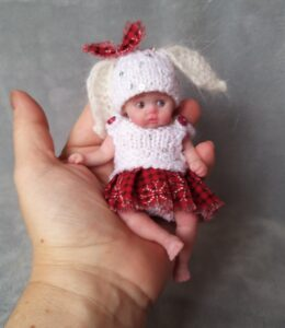 handmade silicone baby girl 5 inch