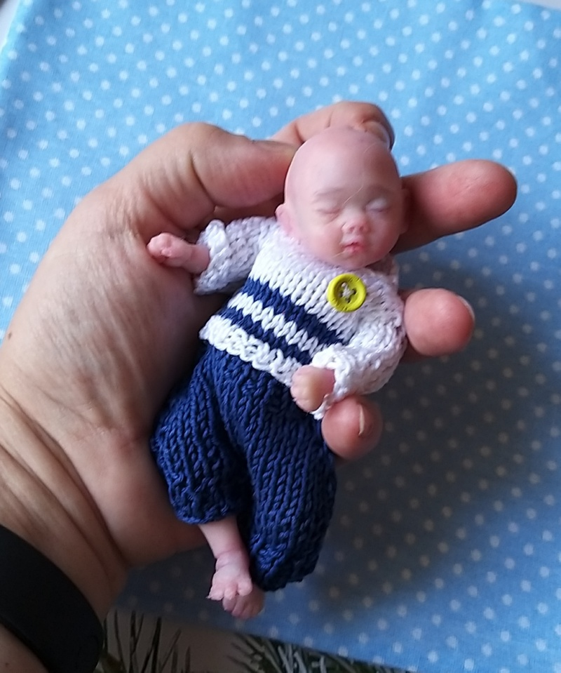 5 inch micro mini silicone sleeping boy Liam Kovaleva Natalya