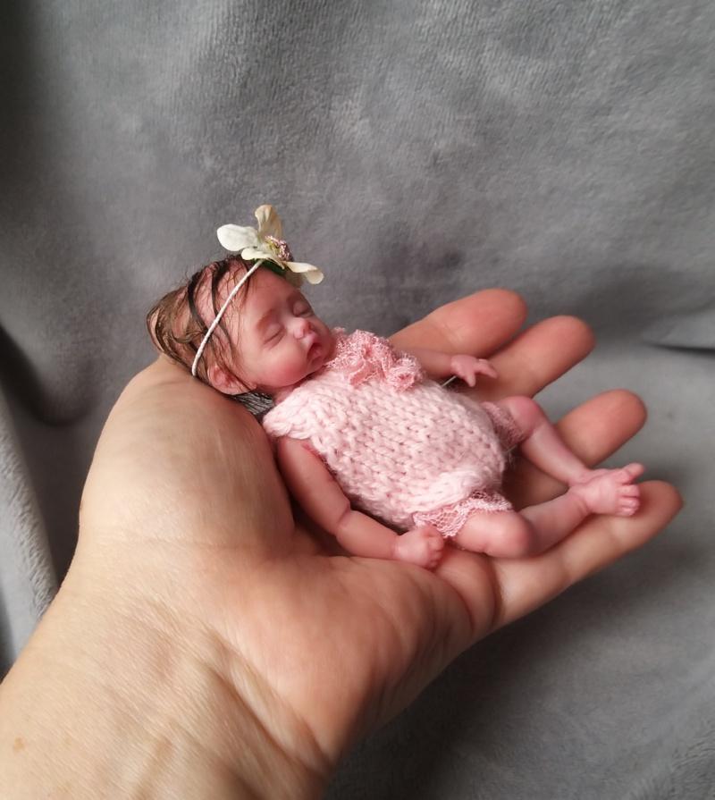 5 inch silicone baby -tiny sleeping realistic doll Petal Kovaleva Natalya18
