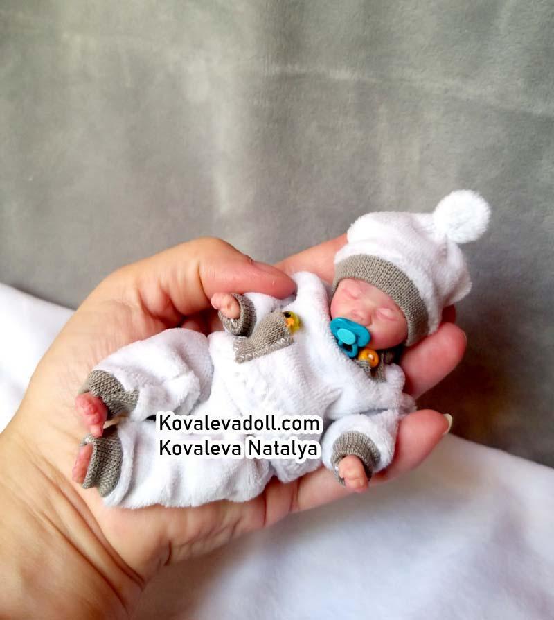 silicone mini boy sleeping doll 5 inch