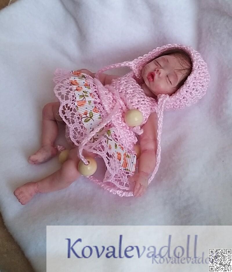 Miniature hyper realistic baby dolls for sale 5 inch Petal Kovaleva Natalya13