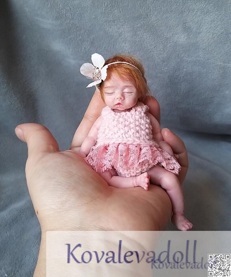 platinum silicone miniature baby 5 inch Petal Kovaleva Natalya17