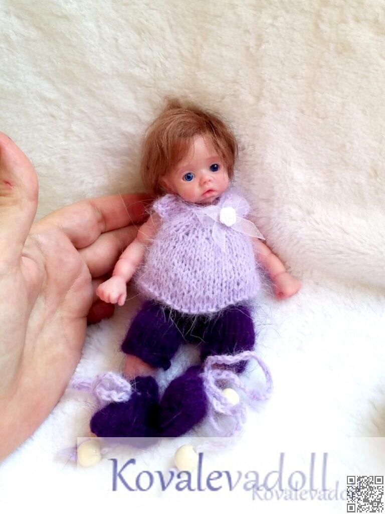realstic baby dolls silicone 6 inch doll artist Kovaleva Natalya06