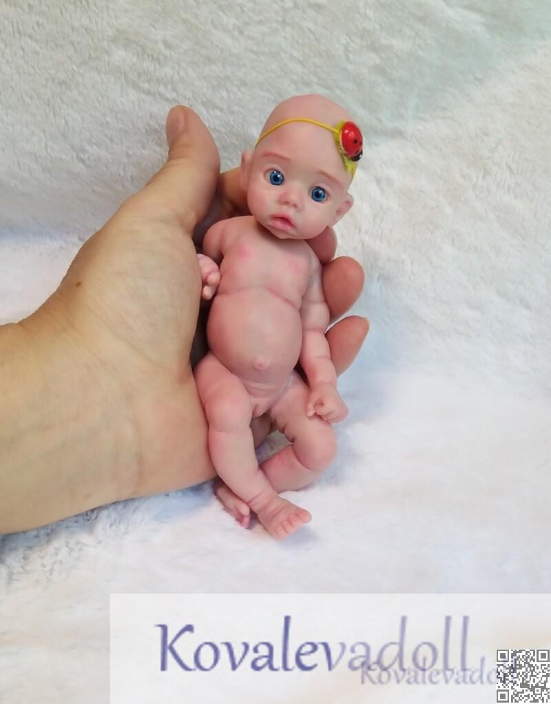 Silicone Mini Reborn baby Mia 6 inch artist Kovaleva Natalya